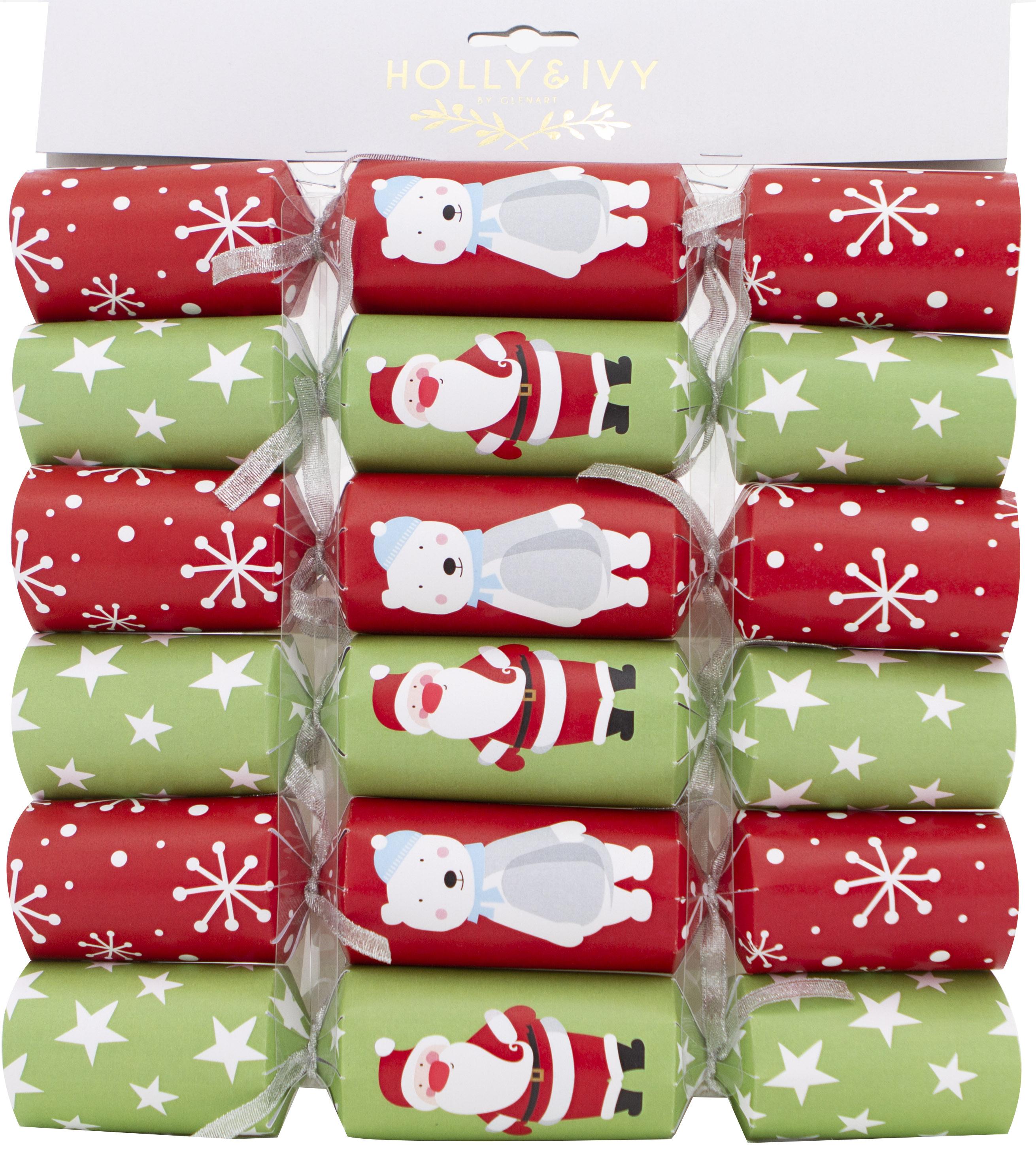 Christmas Crackers Hat.Value Santa Bear Characters Christmas Crackers